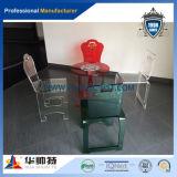 結婚式のためのChiavariのカスタム卸し売り透過食事のアクリルの椅子