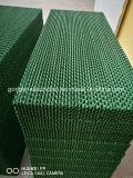 En la pared los gases de refrigeración por evaporación de pad con armazón de aluminio