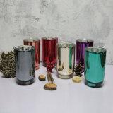Duftendes Paraffinwachs im runden Glasglas mit Luxuxdekorationen des Goldmetalldeckels für festlichen und Hauptdekor