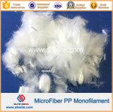 Fibra del monofilamento del polipropilene pp di Microfiber per Anticrack