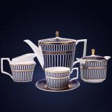 De Kop van de Koffie van China van het been met Blauw en Gouden 11