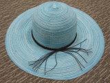 Chapeau de papier personnalisé de Sun de position de paille de dames pour l'été