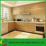 Da madeira compensada lustrosa elevada da laca do projeto moderno gabinetes de cozinha materiais