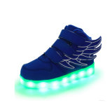 USB 7 Light Color Fashion Pink Angel Wings Chaussures LED
