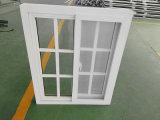 UPVC populaire avec des grillades de la conception de la vitre coulissante