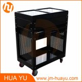 Zwei Drawers Black Steel Sliding Top Panels Tool Cabinet Service Cart in Garage und in Factory
