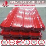 T tapent la tôle d'acier galvanisée enduite d'une première couche de peinture par feuille ridée enduite par couleur de feuille de toit
