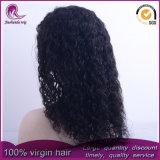 Moyennes à long Curly Wave vierge péruvien perruque de cheveux dentelle avant