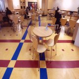 pavimentazione autoadesiva materiale del vinile di spessore di 3.2mm nuova