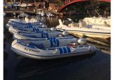 Barco de motor inflável Semi-Rigid de Aqualand 14FT/barco de pesca dos esportes/patrulha de borracha salvamento das forças armadas (425)