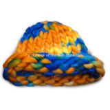 Soem-ODM-neue Form stricken Winter-Hut mit der Hand