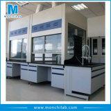 Laboratorio de suministro de vitrinas de gases de la mesa