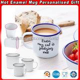 De populaire Mok van het Email van de Gift, het Kamperen Mok, de Kop van de Koffie, Enamelware