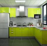 台所のための光沢度の高いベーキング終わりMDFの食器棚のドア