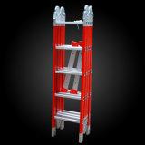 Multifunctionele Vouwende Gezamenlijke Ladder 4.7m van de Glasvezel