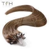 Tfh directamente el cabello virgen Micro Anillo Bucle de extensión de cabello el Cabello Remy brasileño Micro Cordón Extensiones de Cabello 1g/Strand Micro vincular las extensiones de cabello humano.