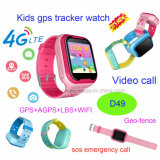 4G/WiFi Kids Safety Rastreador GPS assista com videochamada e Whatsapp