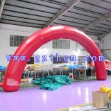 Arche gonflable en PVC haute qualité / arc gonflable vert