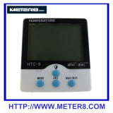 HTC-6 luminosos medidor de relógio de temperatura e humidade