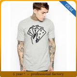 T-shirt estampé par sensation promotionnelle bon marché de coton de la qualité des hommes de vente en gros de prix usine
