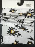 Terra 100% branca impressa do algodão da tela Twill Finished com flor