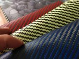 Rojo/Amarillo/Azul de sarga Color 200g de telas de fibra de vidrio, carbono híbrido CF