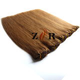 Extensão européia do cabelo humano de Remy do Virgin do cabelo do grampo