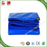 Lonas de plástico reforçado com ilhós laranja azul PE Folha de lona de toldo