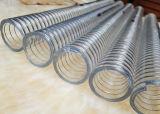 Espiral de PVC transparente de aço do tubo elástico de borracha reforçada