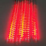 크리스마스를 위한 다채로운 LED 유성우 비 관 빛
