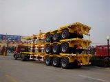 De Chinese Semi Aanhangwagen van de Container van 3 Gooseneck van de As 40FT Chassis van het Skelet
