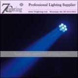 급상승 세척 LED 이동하는 맨 위 소형 광속 점화 7PCS 12watt