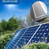 vidrio solar del claro inferior del hierro de 3.2m m, vidrio Tempered de capa de AR para solar