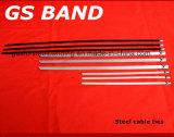 De Zilveren Banden van uitstekende kwaliteit van de Kabel van het Roestvrij staal 100PCS/Lot