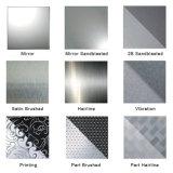 PVD, das schwarze Grad-Edelstahl-Platte des Ende-201 beschichtet