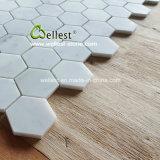 Klassisches Marmormosaik flach, Hexagon, Chevron, Laterne, rautenförmige Form