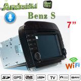 Antirreflexo Carplay Android Market 7.1 Rastreador de navegação GPS para Mercedes Benz S-Class Carro Dispositivo de localização do leitor de DVD