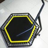 Mini Trampoline de dobramento com a barra do punho de Ajustable