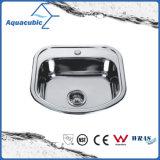 Aço inoxidável ordinária 201 pia de cozinha (ACS6846)