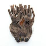 Cheveu bouclé serré de Vierge de prolonge de cheveux humains de 100%
