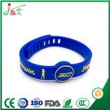 Wristband su ordinazione del silicone di pallacanestro, braccialetto registrabile della gomma di sport