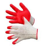 Красный обычная бумага с покрытием из латекса хлопка вязаные рукавицы