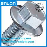 La bride Hex d'amorçage de pouce de la norme ANSI ASME de Grade5 ASTM boulonne Wzp