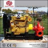 La instalación de Diesel Bomba de agua para riego con manguera de succión de caucho