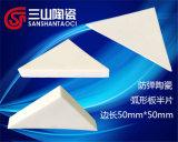 Piastrine di ceramica dell'allumina triangolare di 99% 50*50*10mm