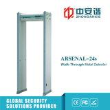 Detector de metales de trabajo del marco de puerta de la marca de fábrica de la detección 50 multizonases con 18 zonas