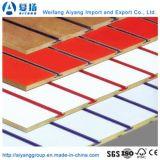 Melamin MDF Slatwall mit Aluminium-Einlagen/gekerbtem MDF
