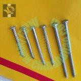 Гальванизированные ногти спиральн хвостовика Checkered головные конкретные стальные