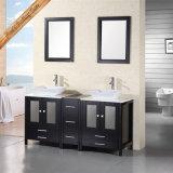 Fed-1015 vanità moderna di lusso della stanza da bagno dei doppi dispersori di legno solido da 60 pollici