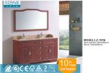 Antike Art-handgemalte freie stehende Badezimmer-Möbel-festes Holz-Eichen-materielles modernes Badezimmer